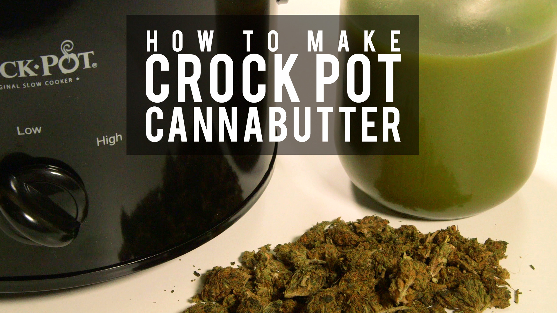 how to cook cannabutter in a crock pot
